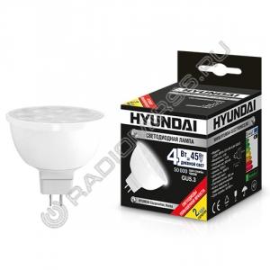 Лампа светодиодная Hyundai LED01-MR16-12V-4W-4.0K-GU5.3