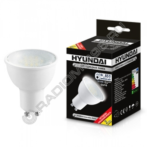 Лампа светодиодная Hyundai LED02-JCDR-220V-6W-4.5K-GU10