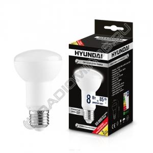 Лампа светодиодная Hyundai LED02-R63-8.0W-4.5K-E27