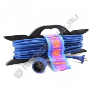 Сетевой удлинитель PowerCube 16A/3,5кВт 20м 1 розетка на каркасе морозостойкий