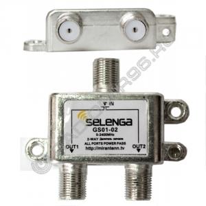 Делитель  на 2 ТВ 5-2050 MHz SELENGA