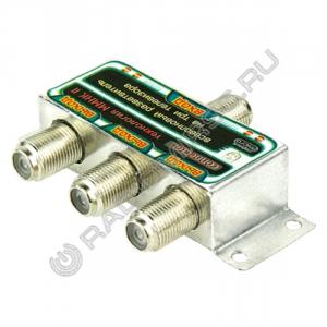 Разветвитель FR3 на 3 ТВ под F штекер (Connector)