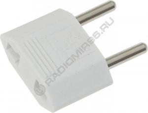 Сетевой переходник TEFAL белый плоский сталь