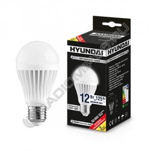 Лампа светодиодная Hyundai LED02-A60-12W-4.5K-E27