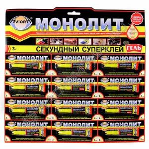Клей AVIORA-МОНОЛИТ СУПЕР - ГЕЛЬ 3г (12/288)