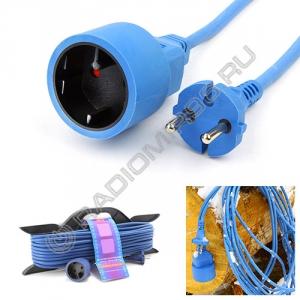Сетевой удлинитель PowerCube 10A/2,2кВт 10м 1 розетка на каркасе морозостойкий
