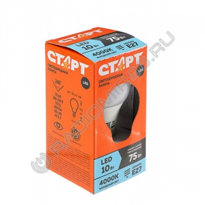 Лампа светодиодная СТАРТ ECO LEDGLSE27 10W / 75Вт 40