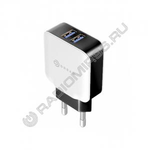 Зарядное устройство сетевое DREAM DRM-PA7-03 2USB 2A