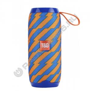 Портативная Bluetooth колонка TG106 оранжево-синий