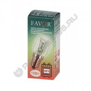 Лампа накаливания FAVOR PH230-15 T25 E14 для печей ТЕРМОСТОЙКАЯ
