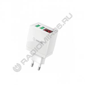 Зарядное устройство сетевое DREAM DRM-A61 2USB 2.4A