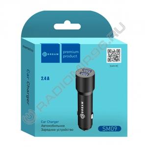 Зарядное устройство АВТО DREAM SM09 2USB 2,4A