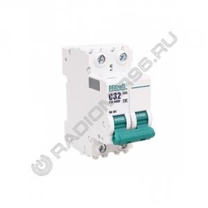 Автоматический выключатель DEKraft 2P 32A C BA-101 4,5кА 11069