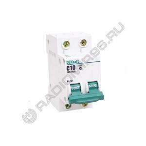 Автоматический выключатель DEKraft 2P 10A C BA-101 4,5кА 11065