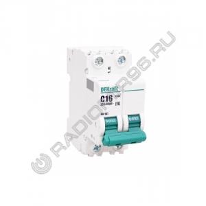 Автоматический выключатель DEKraft 2P 16A C BA-101 4,5кА 11066