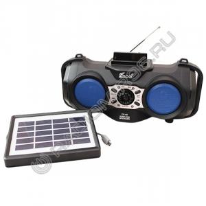 Радиоприемник FEPE FP-90-S солнечная батарея СИНИЙ